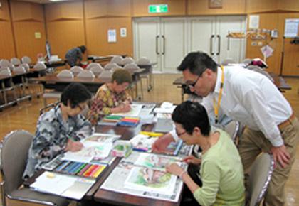 葛飾区シニア活動支援センターでの塗り絵教室